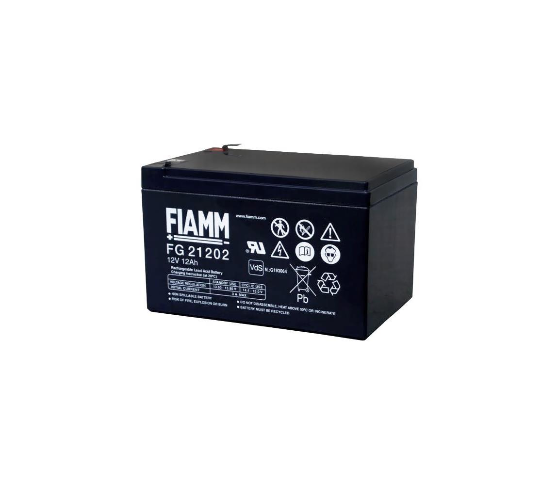 Fiamm FG21202 - Olověný akumulátor 12V/12Ah/faston 6,3mm