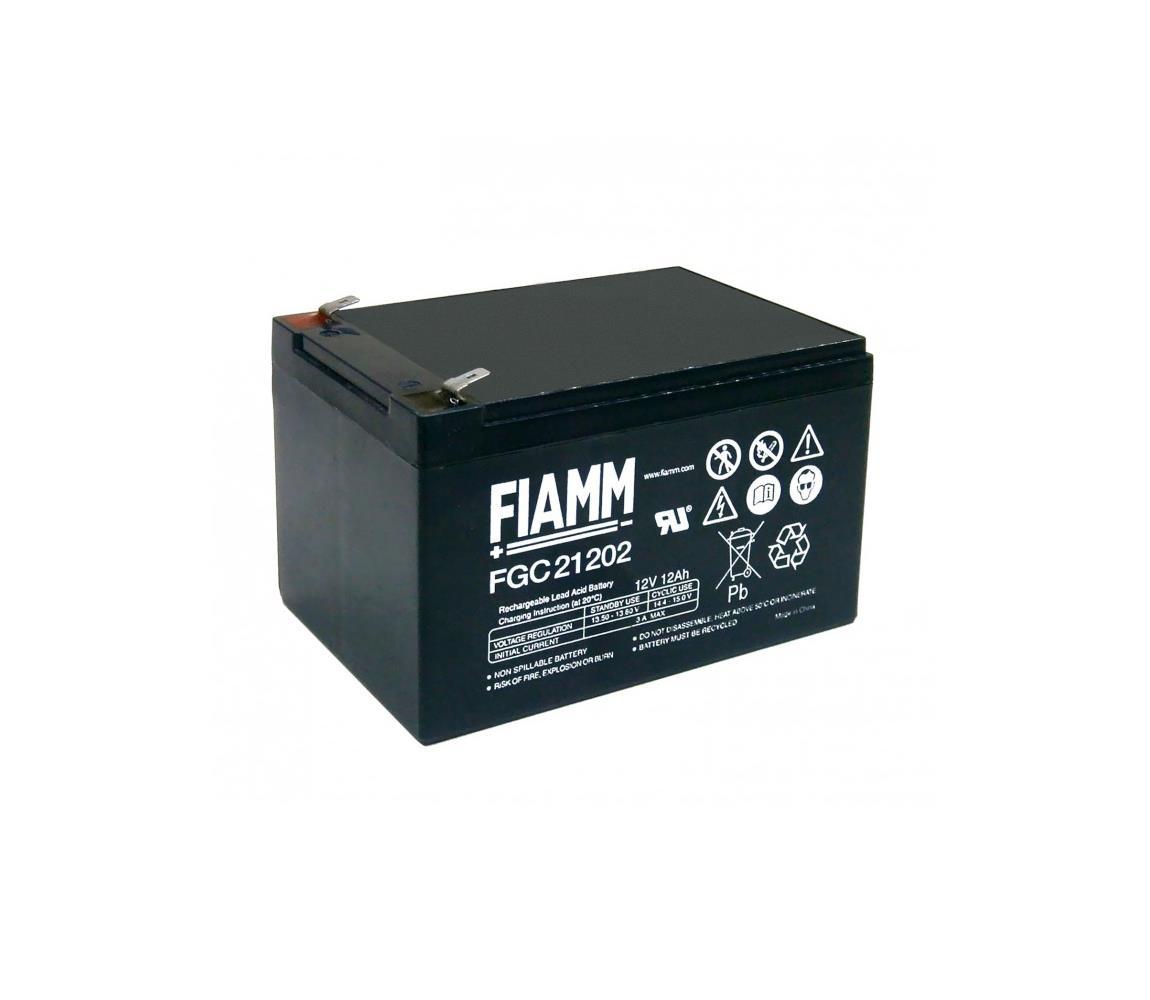 Fiamm FGC21202 - Cyklický olověný akumulátor 12V/12Ah/faston 6,3mm