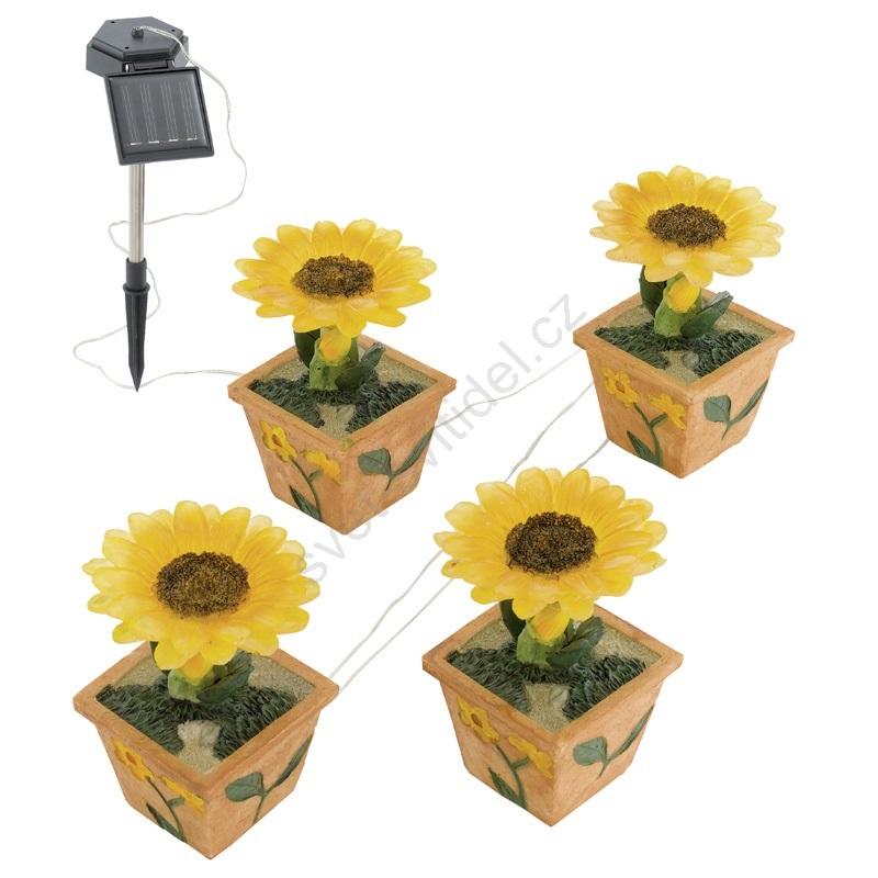 EGLO 47125 - Solární zahradní světlo slunečnice 4xLED/0,015W