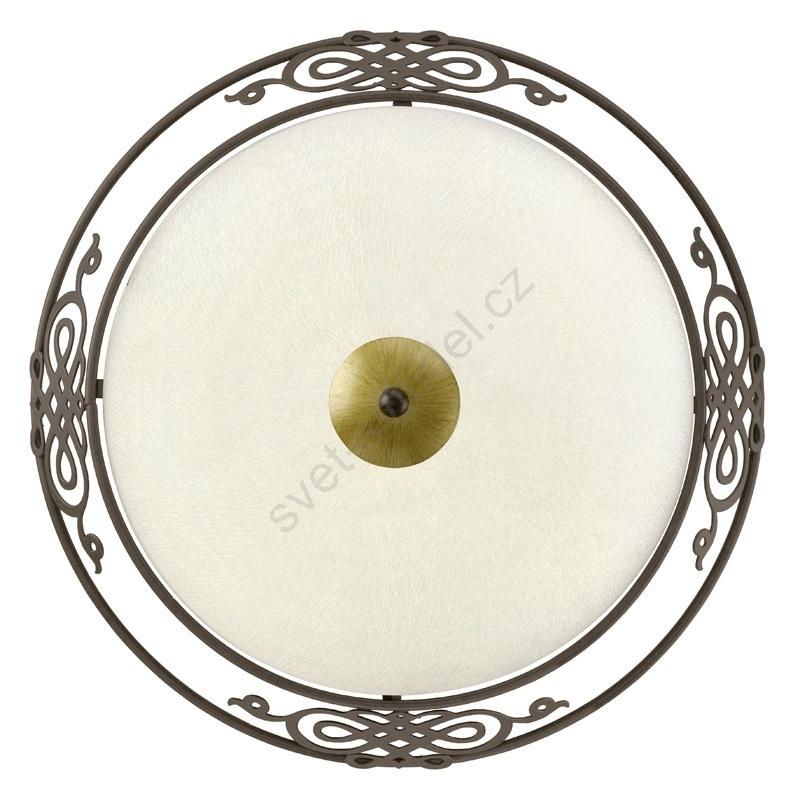 EGLO 86712 - Deckenleuchte  Wandleuchte MESTRE antik braun/goldgelb/beige Glas