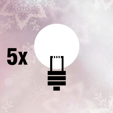 FK technics 5000271 - SADA 5x Náhradní žárovka L20/0,82W/12V