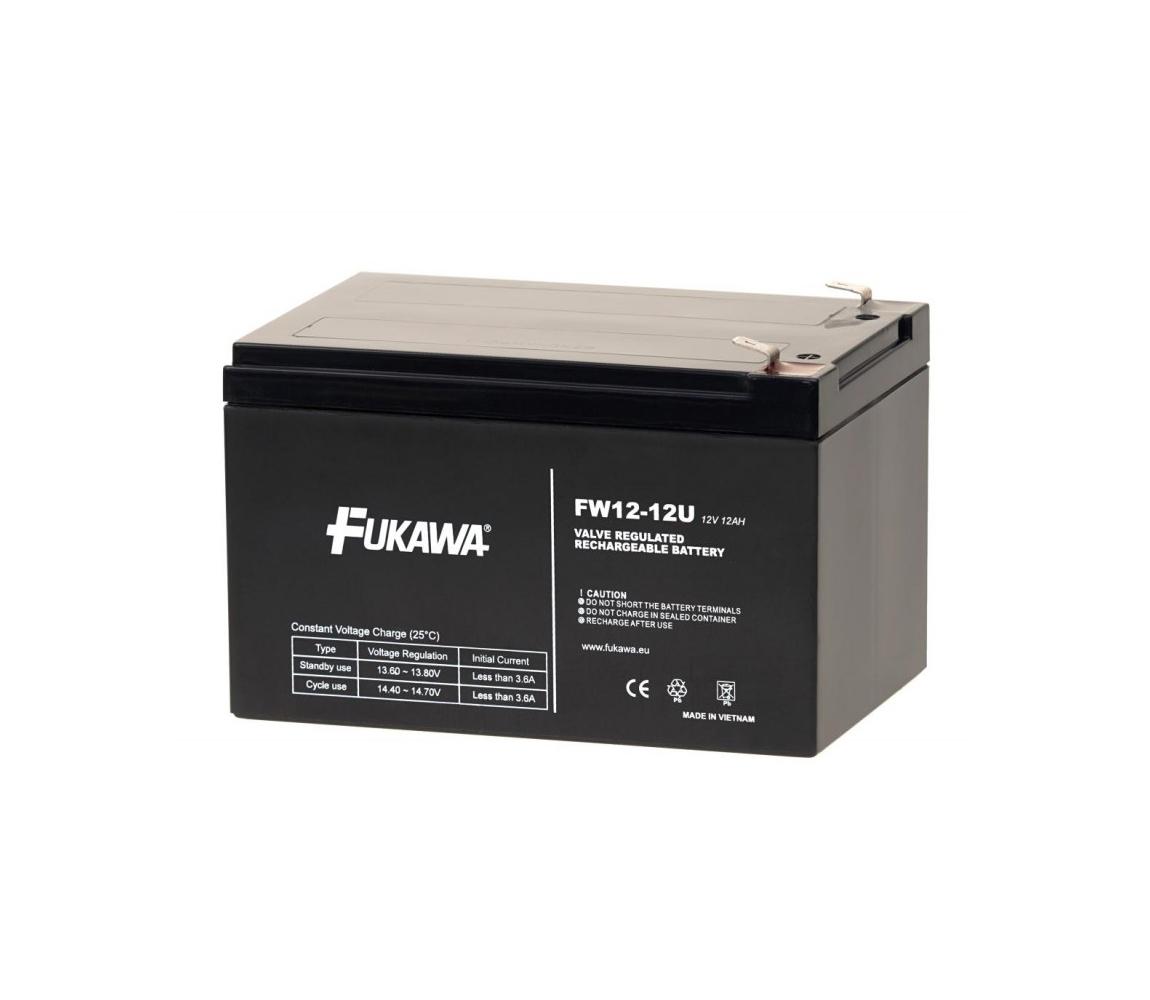 FUKAWA FW 12-12 U - Olověný akumulátor 12V/12Ah/faston 6,3mm