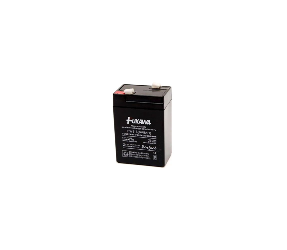 FUKAWA FW 5-6 U - Olověný akumulátor 6V/5 Ah/faston 4,7mm