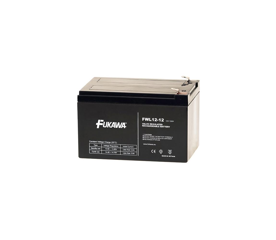 FUKAWA FWL 12-12 - Olověný akumulátor 12V/12Ah/faston 6,3mm