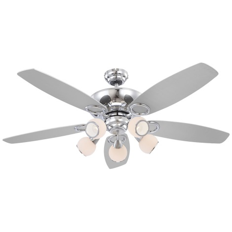 GLOBO 0335 - Stropní ventilátor DENIM 5xE14/40W/230V