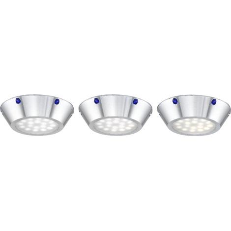 Globo 12317-3 - SADA 3x LED stropní svítidlo DOWN LIGHTS 3xLED/3,6W/9,2V