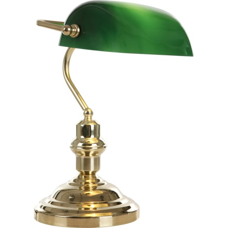 GLOBO 2491 - stolní lampa ANTIQUE 1xE27/60W zelená- zlatá