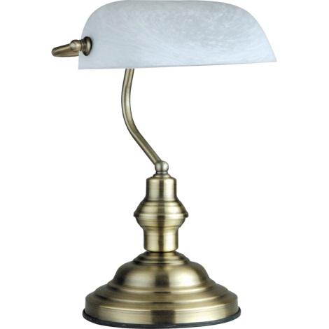 GLOBO 2492 - stolní lampa ANTIQUE 1xE27/60W bílá-patina