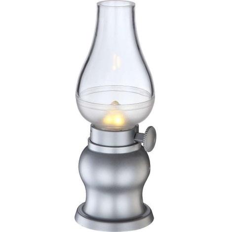 Globo 28015-12 - LED Stmívatelná stolní lampa FILUM LED/0,5W/3,6V stříbrná