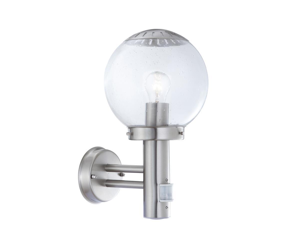 Globo GLOBO 3180S - Venkovní nástěnné svítidlo s čidlem BOWLE II 1xE27/60W/230V GL0516