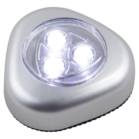 GLOBO 31909 - LED orientační svítidlo FLASHLIGHT 4xLED/0,21W/3xMicro (AAA)1,5V
