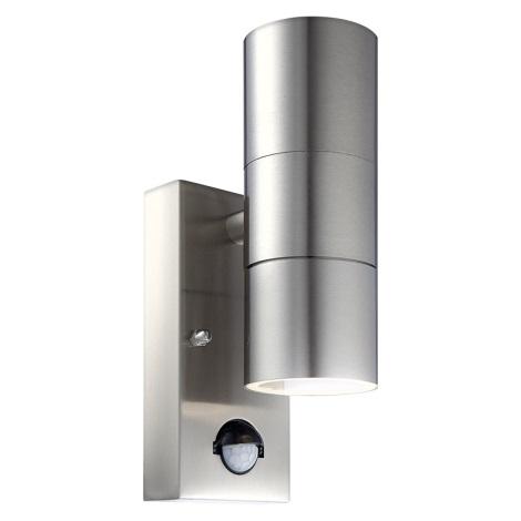 Globo 3201-2S - Venkovní nástěnné svítidlo s čidlem STYLE 2xGU10/35W/230V