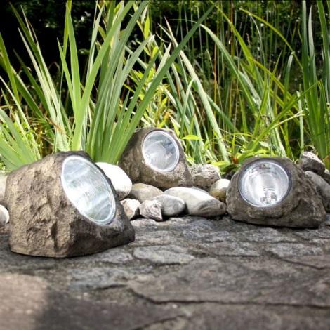 Globo 3302 - Dekorativní solární LED svítidlo KÁMEN 4xLED/0,06W/3,2V