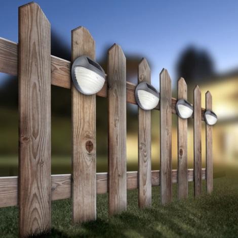 Globo 33429-12 - Solární nástěnné LED svítidlo SOLAR 2xLED/0,06W/3,2V