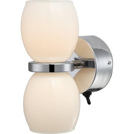 GLOBO 44200-2W - Koupelnové nástěnné LED svítidlo DANO 2xLED/3W/230V