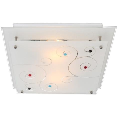 GLOBO 48140-2 - Stropní svítidlo DL CHROM 2xE27/40W/230V