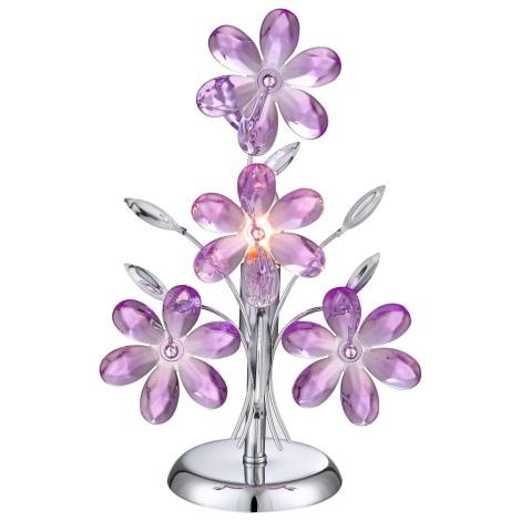 GLOBO 5146 - Stolní dekorativní lampa PURPLE 1xE14/40W