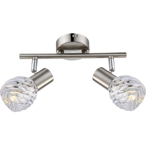 GLOBO 54344-2 - Bodové LED svítidlo BORONIA 2xE14/4W/230V