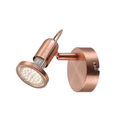 GLOBO 54383-1 - Bodové LED svítidlo COPPER 1xLED/3W/230V
