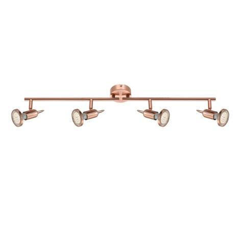 GLOBO 54383-4 - Bodové LED svítidlo COPPER 4xLED/3W/230V