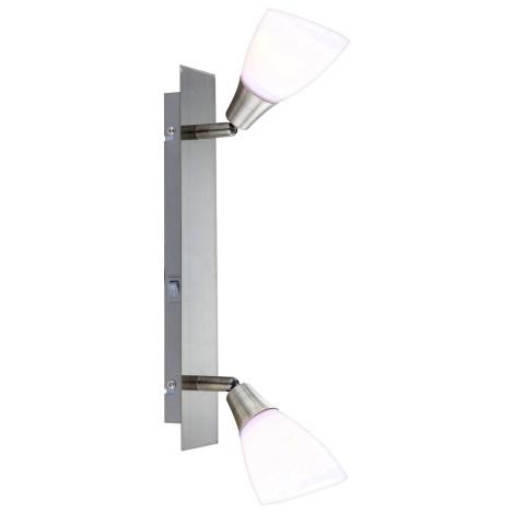 GLOBO 5451-2 - Bodové svítidlo FRANK 2xE14/40W