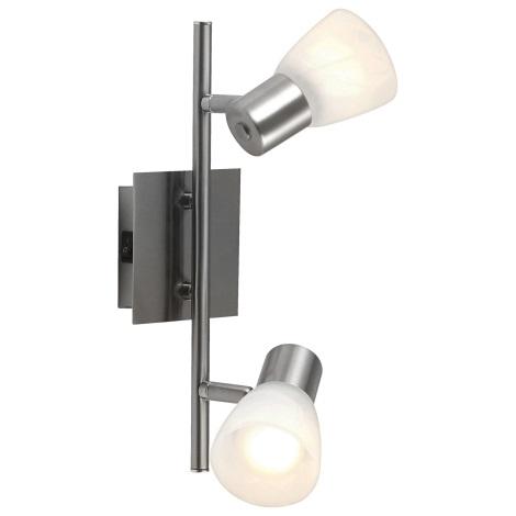 GLOBO 54530-2 - Bodové svítidlo PARRY 2xE14/40W