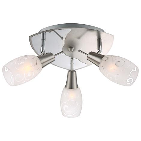 GLOBO 54984-3 - Bodové svítidlo FLORITA 3xE14/40W