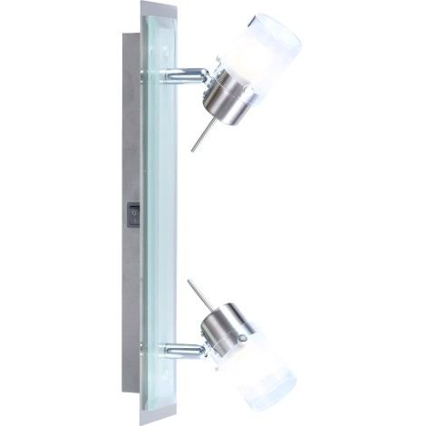 GLOBO 5602-2 - Bodové svítidlo CARRARA 2xG9/33W/230V