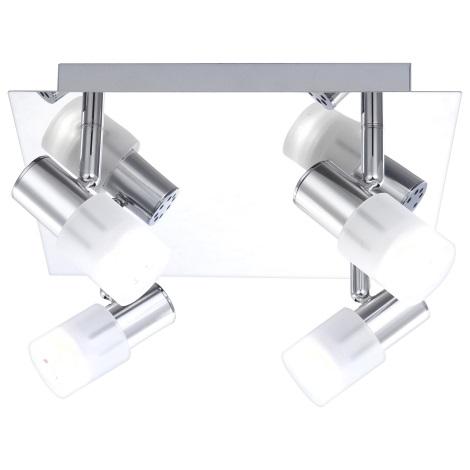 GLOBO 56200-4 - LED Bodové svítidlo s vypínačem GLOSS 4x LED/3W/3,5V