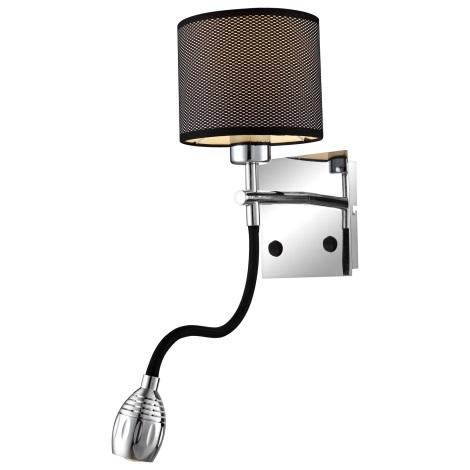 GLOBO 56203-2W - LED Nástěnné svítidlo MORELIA 1xE27/40W/230V + 1xLED/5W/7V