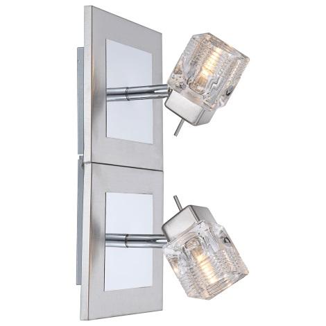 GLOBO 56443-2 - Nástěnné svítidlo CATTLEYA 2xG9/33W/230V