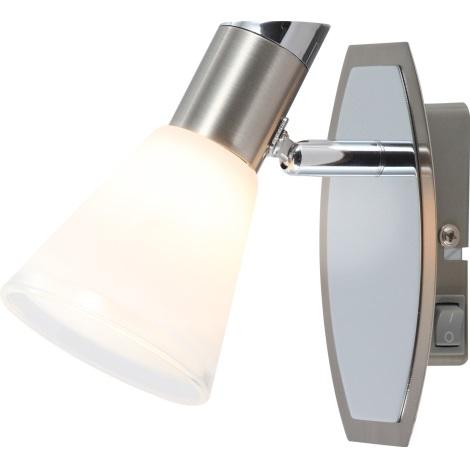 GLOBO 56800-1 - Bodové směrové svítidlo BRADLEY 1xG9/33W s vypínačem
