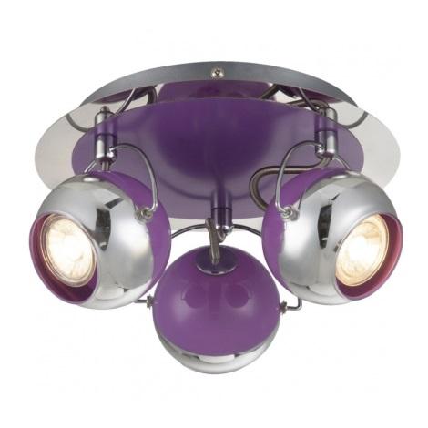 Globo 57887-3 - LED bodové svítidlo SPLASH 3xGU10/5W/230V fialová