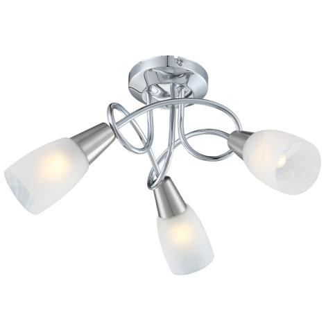 Globo 63178-3 - Stropní svítidlo TIMON 3xE14/40W/230V alabastrové sklo