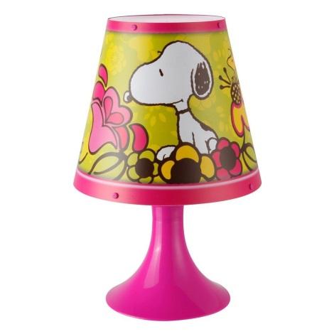 GLOBO 662392 - Stolní lampa SNOOPY 1xG24q-1/10W