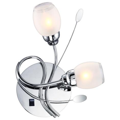 GLOBO 68283-2W - LED Nástěnné svítidlo BILL 2xG9/33W, 6xLED/0,18W