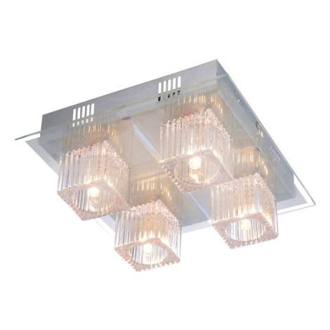 GLOBO 68324-4 - LED Stropní svítidlo 4xG4/35W + 16xLED/0,06W