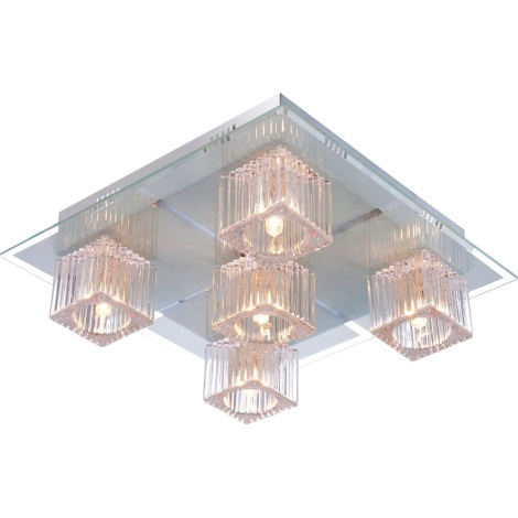 GLOBO 68424-5 - LED stropní svítidlo ANIMUS 5xG9/33W+15xLED/0,2W/12V