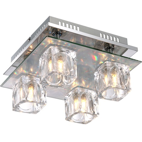 GLOBO 68429-4 - LED Stropní svítidlo ANIMUS 4xG9/33W + 18xLED/0,18W 3V