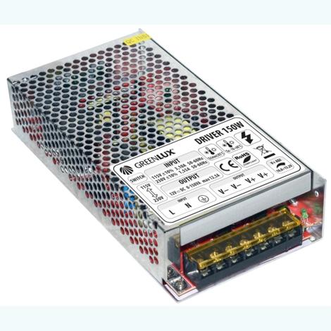 Greenlux GXLD007 - Trafo k LED pásku 150W/230V