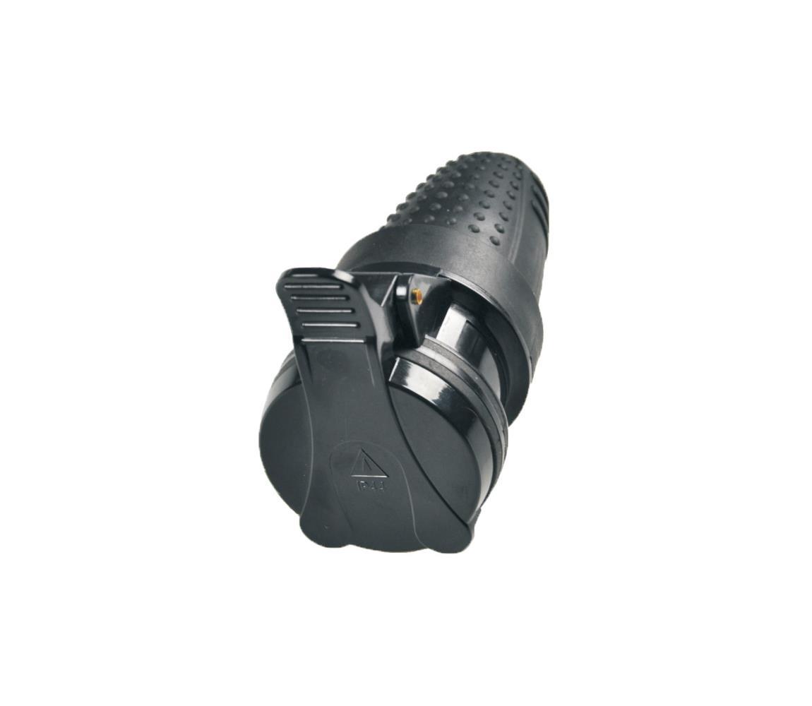 Solight Gumová zásuvka do vlhkého prostředí 230V/16A IP44 SL0171