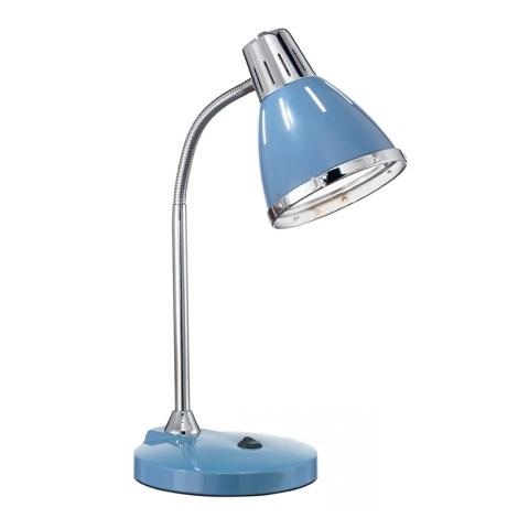 Ideal Lux 034409 - Stolní lampa ELVIS 1xE27/60W/230V modrá