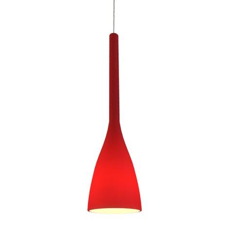 Ideal Lux 035673 - Lustr FLUT 1xE27/60W/230V červená