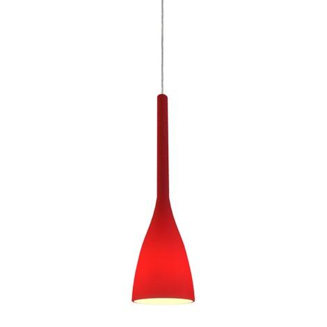 Ideal Lux 035703 - Lustr FLUT 1xE14/40W/230V červená