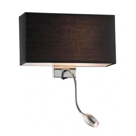 Ideal Lux 035956 - LED nástěnné svítidlo HOTEL 1xE27/60W + 1xLED/1W