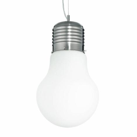 Ideal Lux 06840 - Závěsné svítidlo LUCE SP1 BIG BIANCO 1xE27/60W/230V