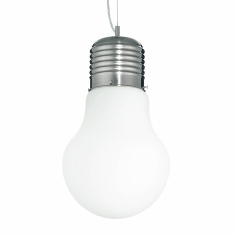 Ideal Lux 07137 - Závěsné svítidlo LUCE SP1 SMALL BIANCO 1xE27/60W/230V