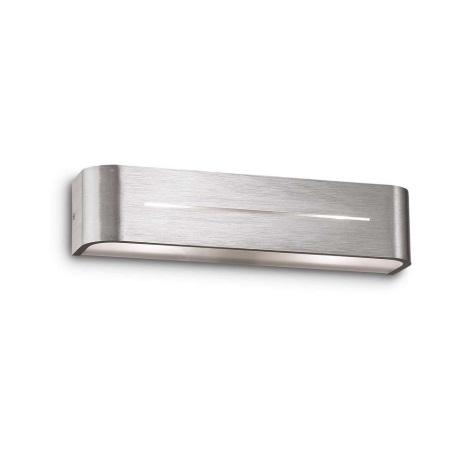 Ideal Lux 09940 - Nástěnné svítidlo POSTA AP2 ALLUMINIO 2xE14/40W/230V