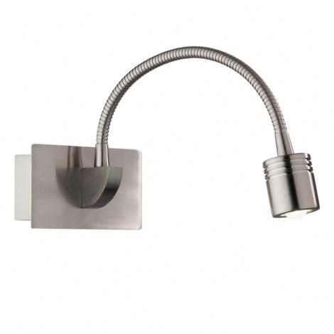 Ideal Lux 31477 - LED nástěnné svítidlo DYNAMO AP1 NICKEL 1xLED/3W/230V