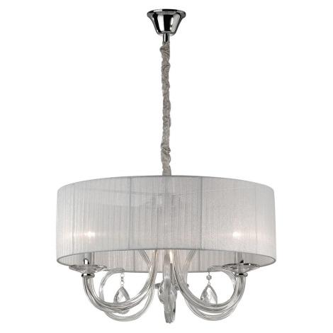 Ideal Lux - Křišťálový lustr 3xE14/40W/230V bílá